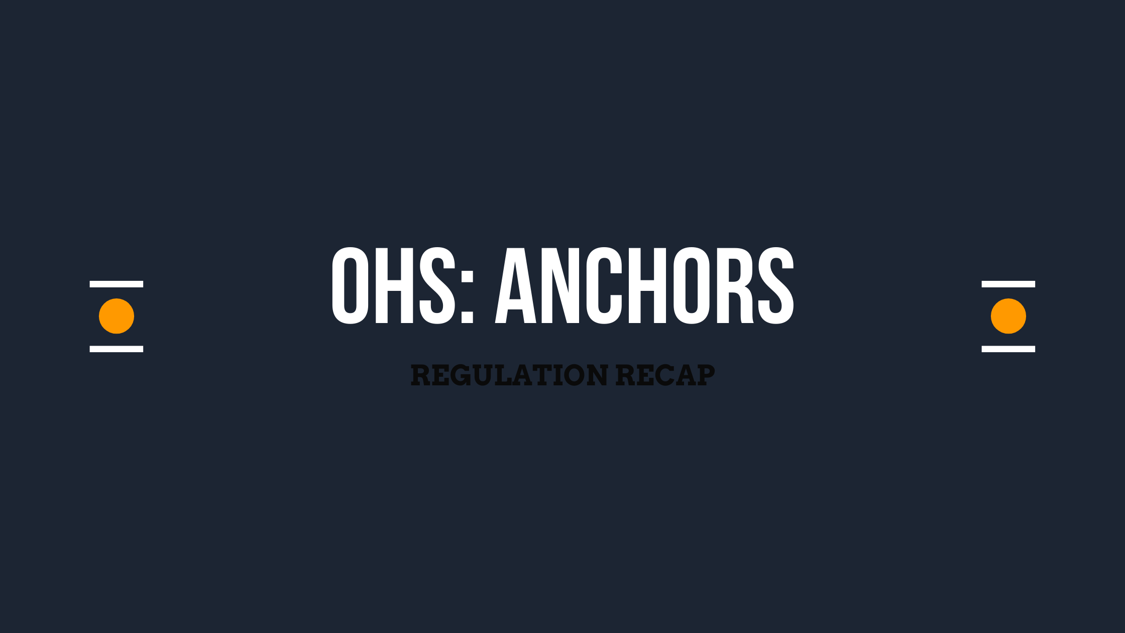 OHS_ Anchors