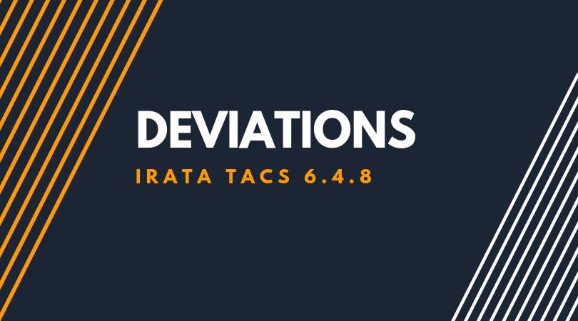 Deviations 6.4.8