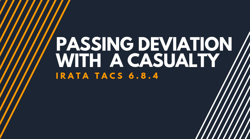 Passing deviation with a casualty