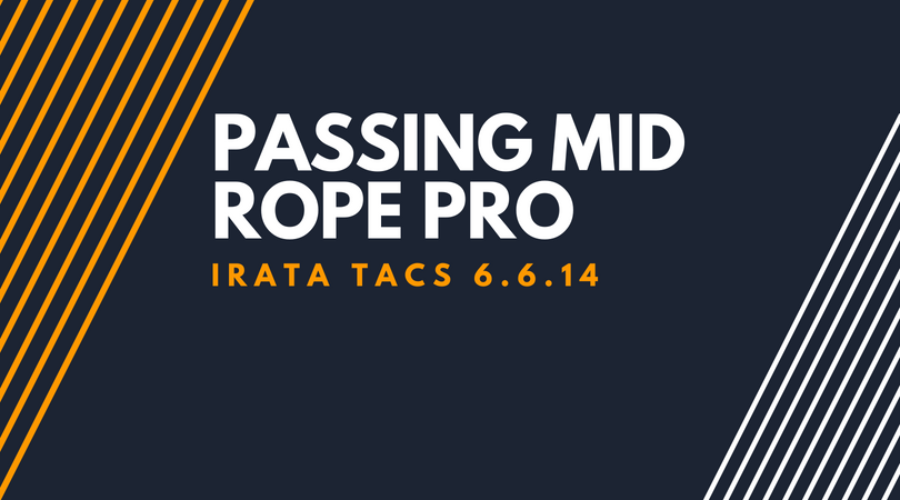 Passing mid rope pro