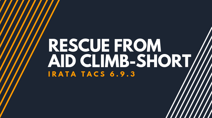 Rescue from Aid climb-short connection