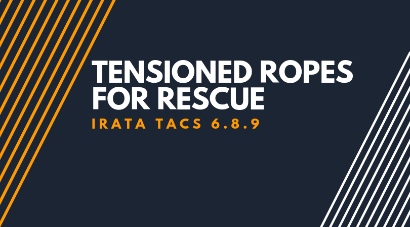 Tensioned ropes for rescue
