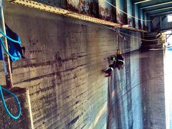 Burrard Bridge Netting 11 2015